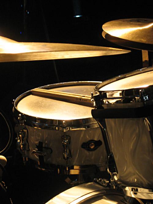 Das Schlagzeug von Christoph Buhse, Drummer von Annett Louisan