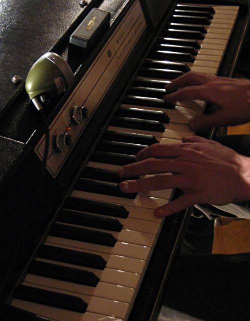 Wurlitzer Piano und die Shure