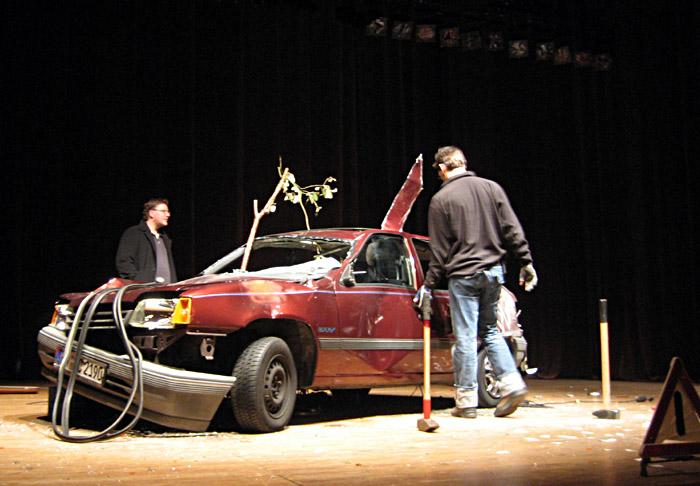 Das Auto nach der Show
