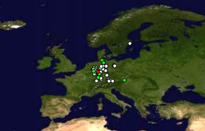 Karte mit Zugriffen