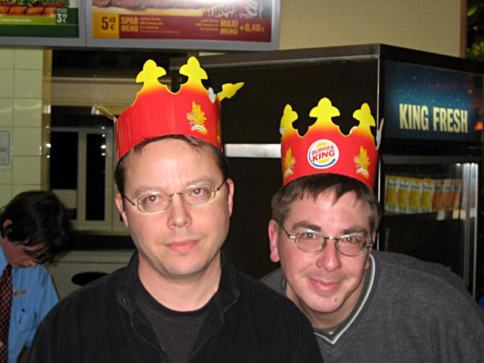 Burger King bei Nacht