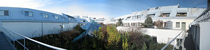 Blick aus meinem Hotelzimmer in Wien