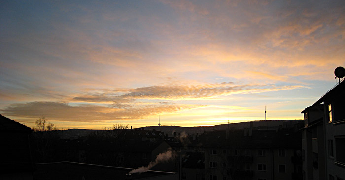 Morgens um 08:00 in Stuttgart