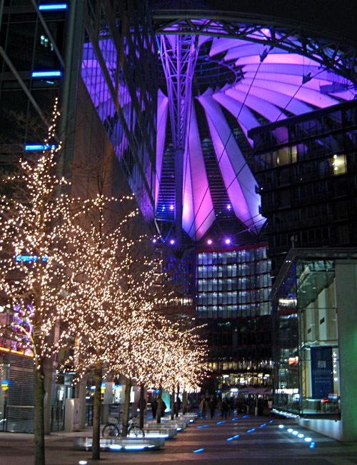 Das Sony - Center am Potsdamer Platz