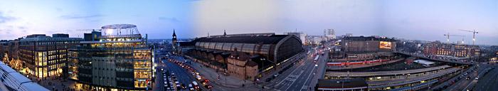 Blick über den Hauptbahnhof in Hamburg