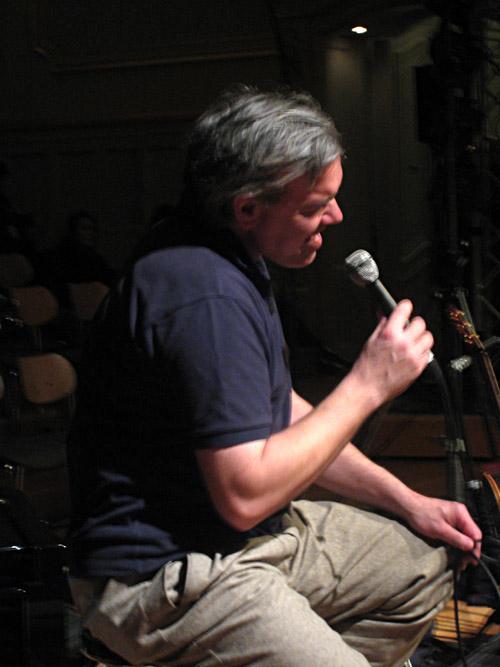 Stefan Gwildis beim Soundcheck in der Musikhalle Hamburg