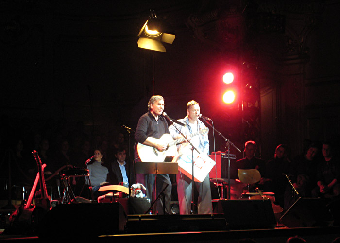 Stefan Gwildis und Christian von Richthofen in der Musikhalle Hamburg