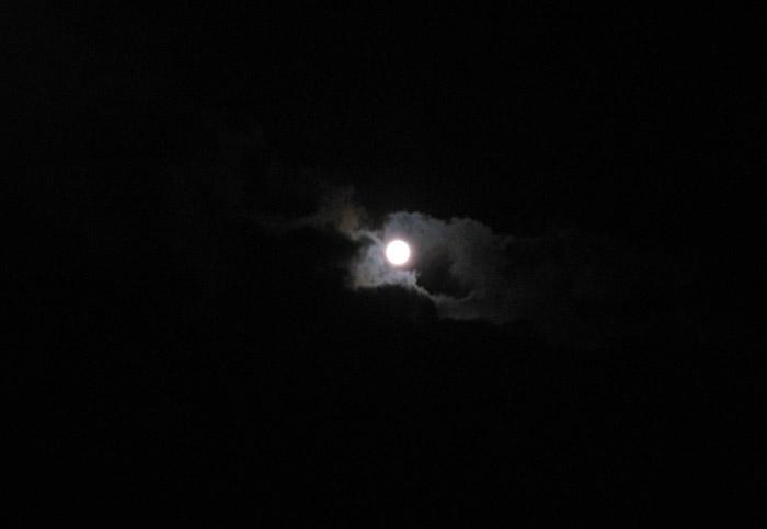 Der Mond am Samstag Abend