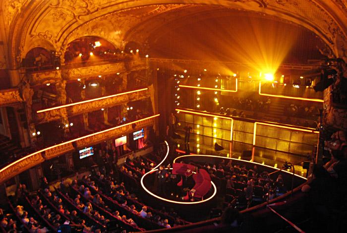 Übersicht über das Schauspielhaus vor der Probe