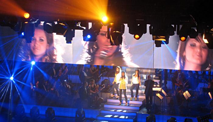 Monrose bei ihrem ersten Beitrag zur Vorentscheidung zum Eurovision Song Contest