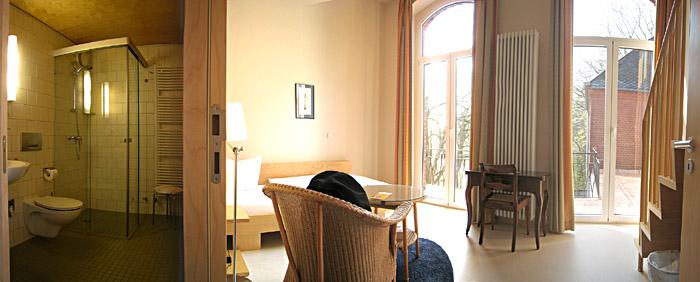 Mein Zimmer im van Delden Haus Berlin; ein größeres Bild gibt's nach dem Draufklicken