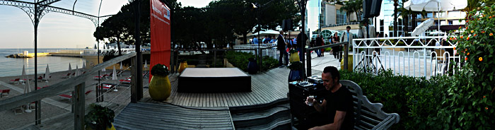 Der kleinFOH an einer der Bühnen; für ein größeres Bild einfach klicken