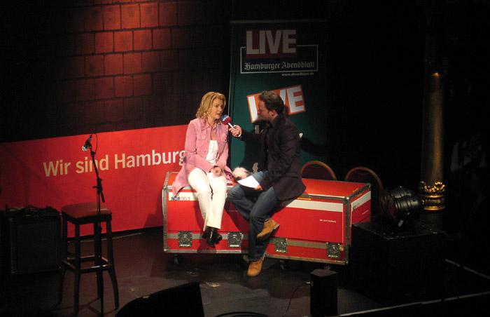 Jane Comerford im Gespräch bei Hamburg Sounds im Tivoli in Hamburg