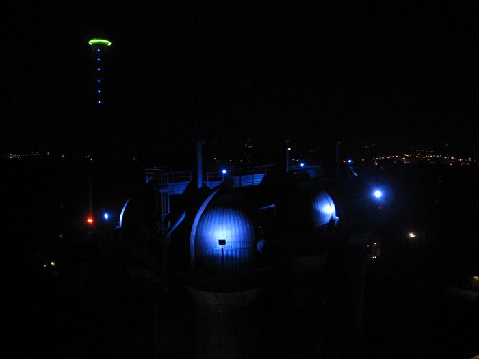 Blick über den Landschaftspark Nord in Duisburg