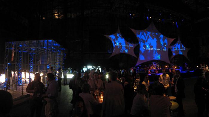 Eine der Partybühnen beim Deloitte - Geburtstag