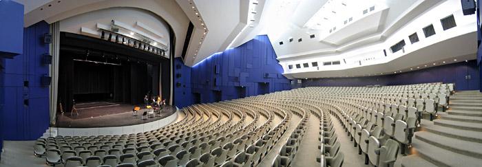 Schnittansicht im Forum Leverkusen; Bild größerklickbar