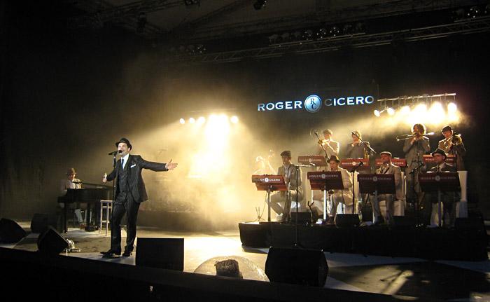 Roger Cicero mit Band bei den Nibelungenfestspielen in Worms