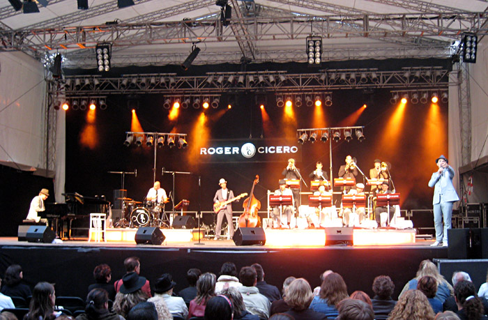 Sonne beim Roger Cicero - Konzert in Altusried
