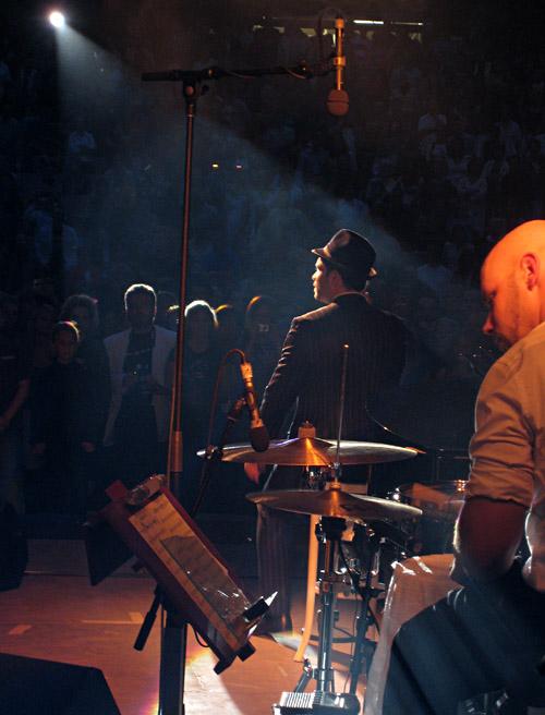 Roger Cicero in der Freilichtbühne Bochum Wattenscheid; Bild größerklickbar