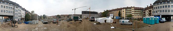 Das Baugelände in Nürnberg