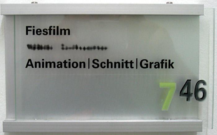 Türschild im Neues Deutschland - Verlagsgebäude