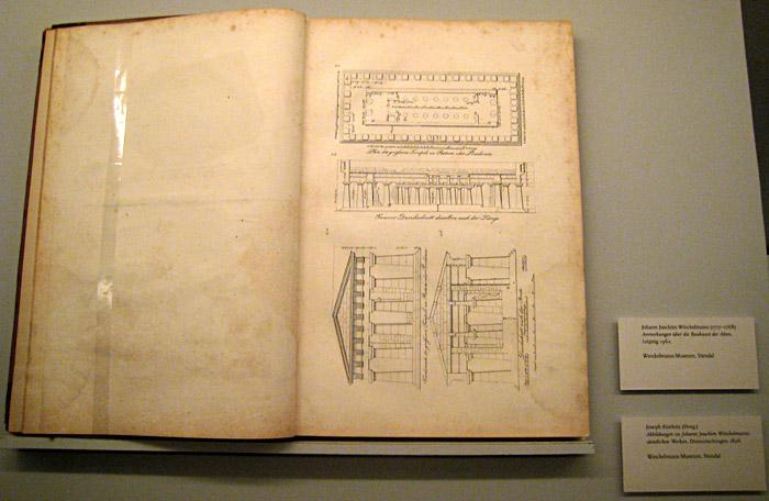 Skizze eines Tempels aus Paestum