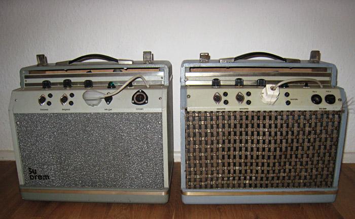 Zwei Suprem Piccolo - Verstärker aus verschiedenen Jahren