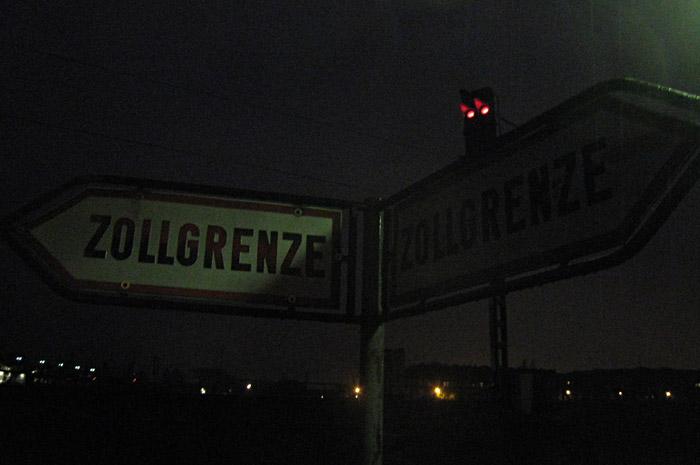 Zollgrenze im Hamburger Hafen