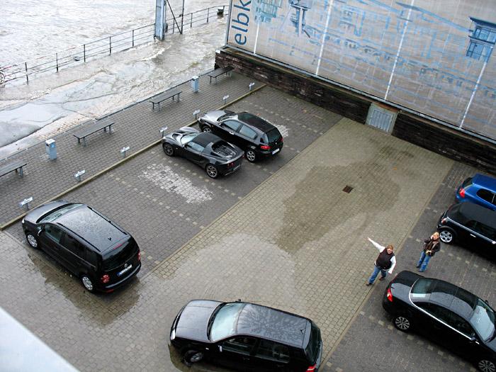 Sturmflut in Hamburg; Copyright: Annette Prüfer
