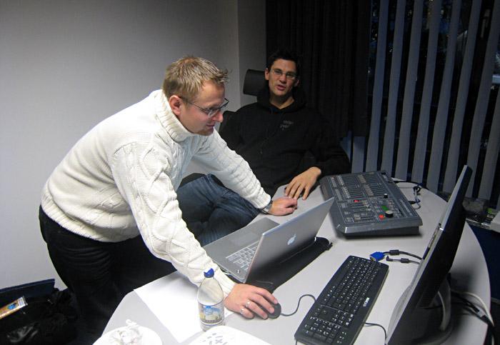 Dennis und Steffen beim Vorbereiten für die Annett - Tour