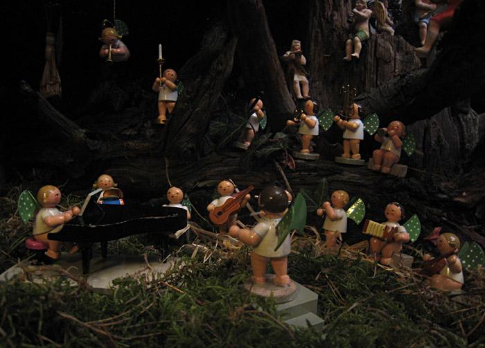 Engelsorchester beim mitternächtlichen Musizieren