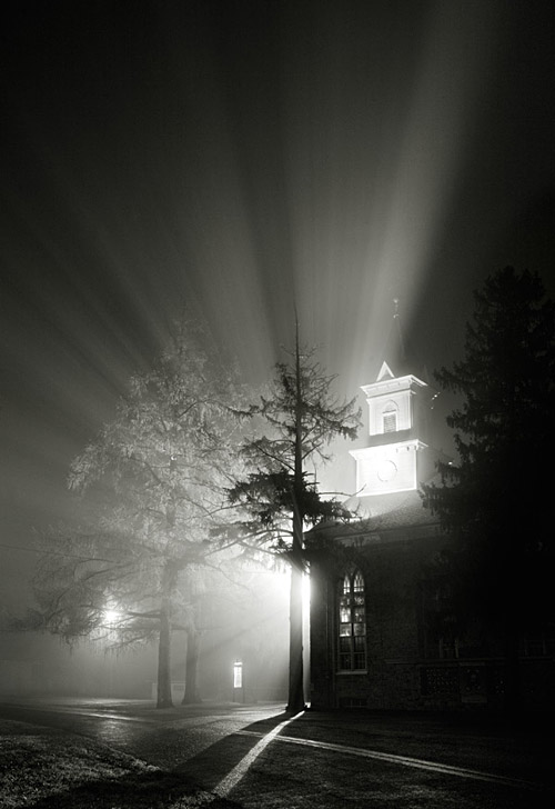 Foggy night; Copyright: www.durhamtownship.com
