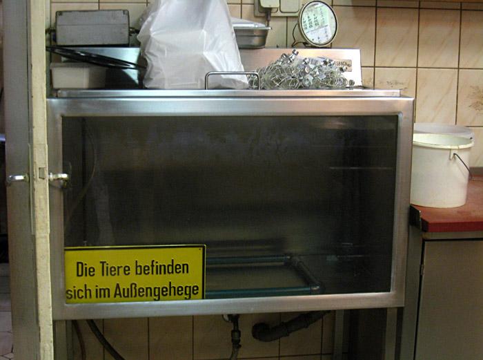 Schild im Delikatessenladen