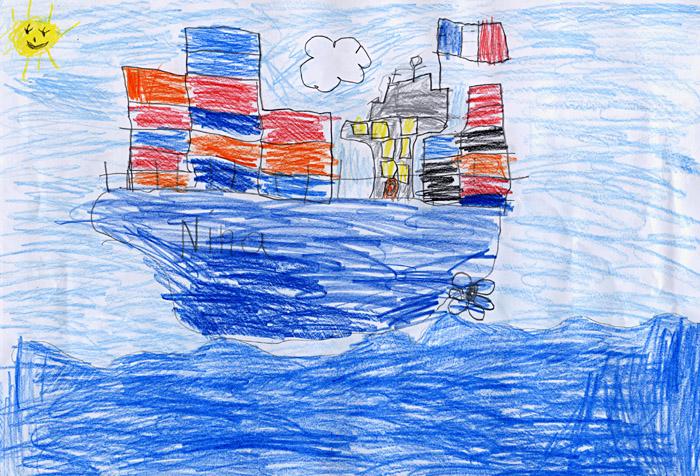 Containerschiff; Copyright: Anna