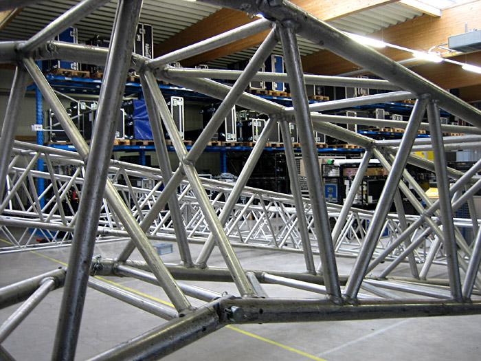 Konstruktion eines Bühnendachs