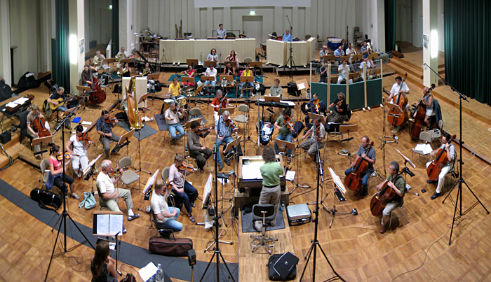 Proben von Annett Louisan und das Babelsberger Filmorchester