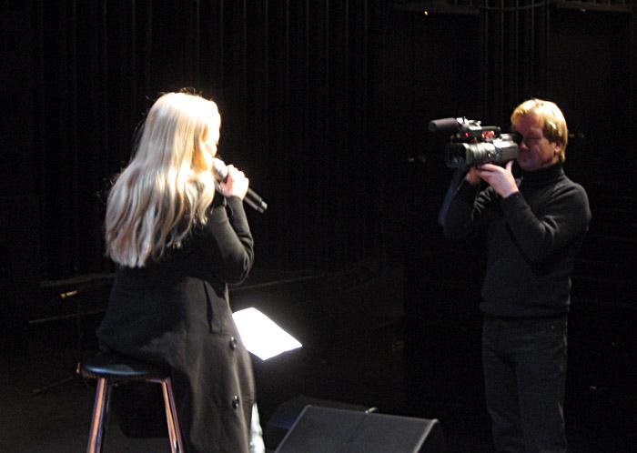 Annett Louisan in Berlin bei einer Probe