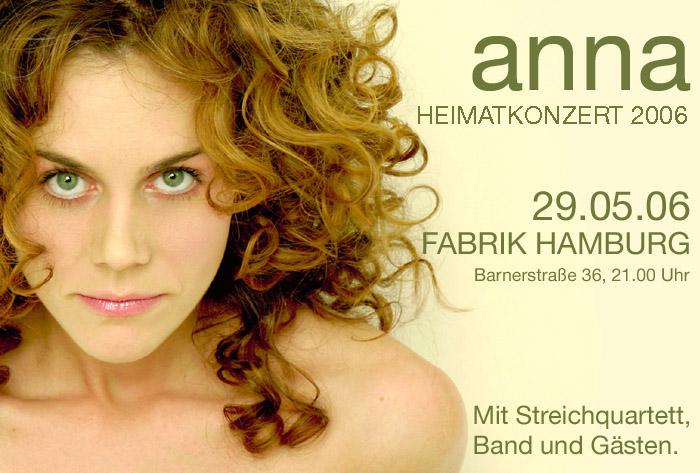 Flyer zu Annas Konzert