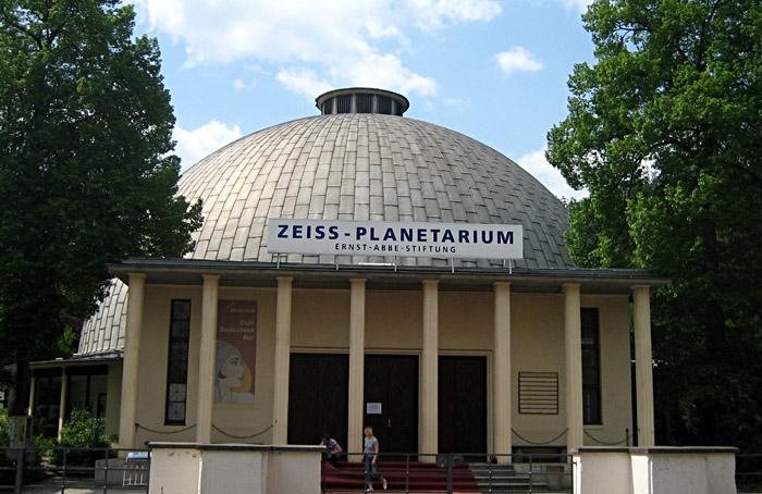 Das Planetarium Jena von Außen