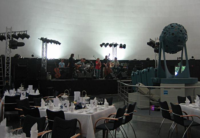 Soundcheck mit Annett Louisan im Planetarium Jena