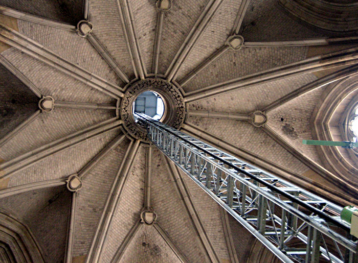 Lift im Inneren eines Turms