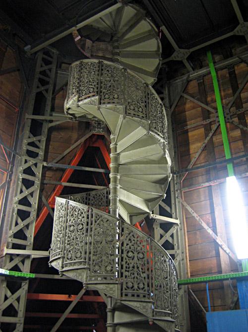 Die Wendeltreppe zum Ostturm