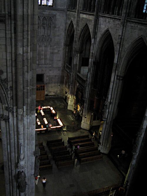 Blick in den Dom von oben