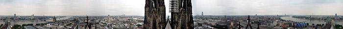 Der 360° - Blick vom Ostturm des Doms