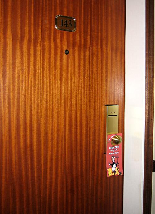 Das Siegertürschild an meiner Zimmertüre