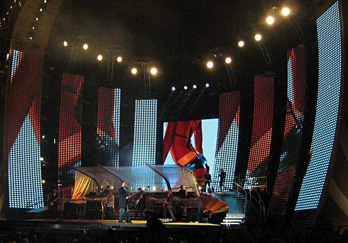Robbie Willieams im Münchener Olympiastadion
