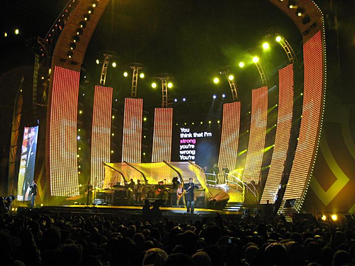 Robbie Williams im Münchener Olympiastadion