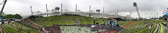 Das Mnchener Olympiastadion bei Robbie Williams
