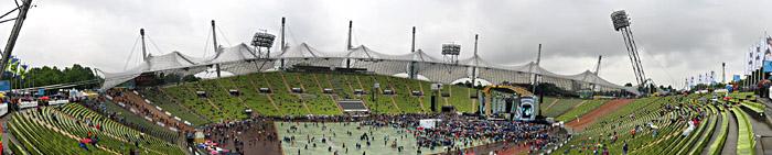 Das Münchener Olympiastadion bei Robbie Williams